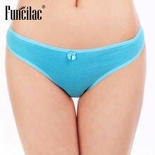 FUNCILAC Sexy Lady G-String Bikini String Culotte Femme Coton Thong Panties 1 piece