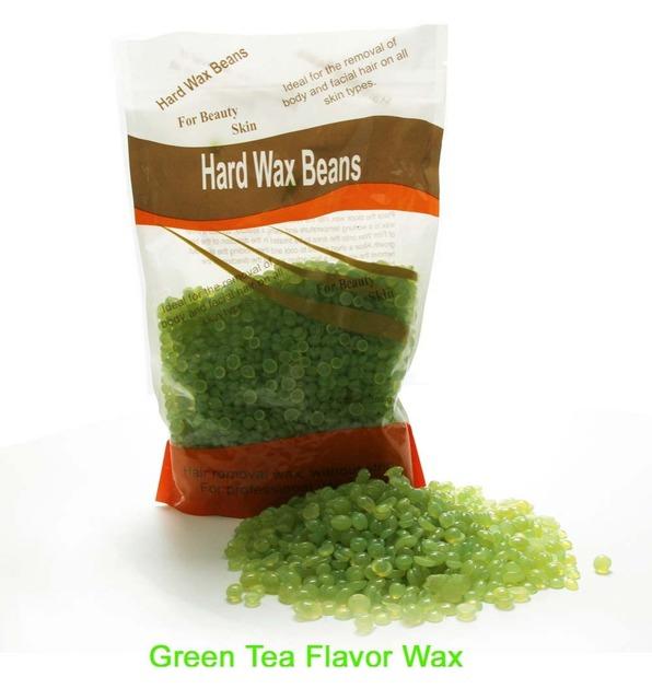 Libre de papel Productos Rmoval Pelo Salón De Cera Del Pelo Cera Sólida Perla Ninguna Alergia Té Verde Cera Dura 300 G/pack