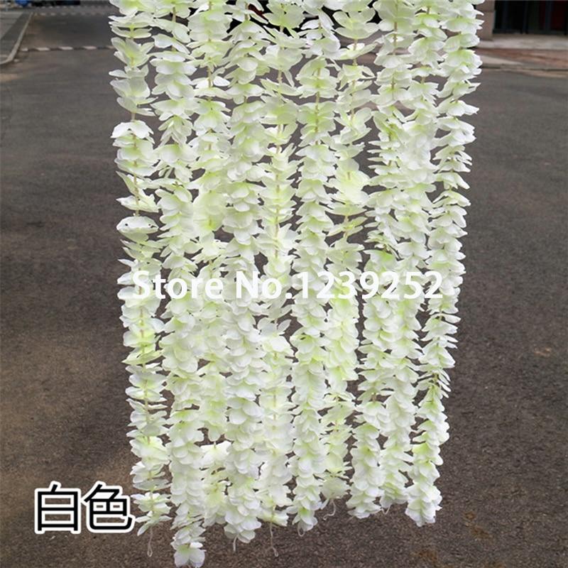 """Nový 5ks 40 """"Umělé hortenzie Garland dekorace Květina révy ratanový vánoční DIY Festival Svatební květiny květinové dekorace"""