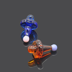 Image 4 - HORNET Premium Universal Solid Colored Glass UFO Carb Cap Dome for Glass Water Pipes 38MM Dab Oil Dab Rigs Quartz Banger Nails