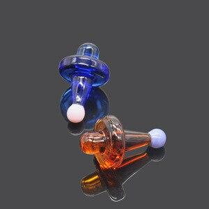 Image 4 - Hornet premium universal sólido vidro colorido ufo carb tampa cúpula para tubos de água vidro 38mm dab óleo plataformas quartzo banger pregos
