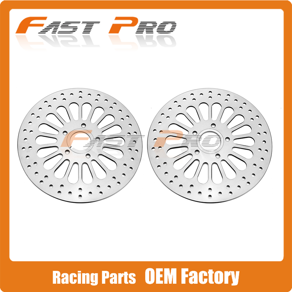 Motorcycle Front Rear Wavy Brake Disc Rotor For HARLEY TOURING SOFTAIL SPORTSTER 1984-2013 EXCEPT 2008-2013 TOURING MODELS велосипед cube touring rf lady 2013