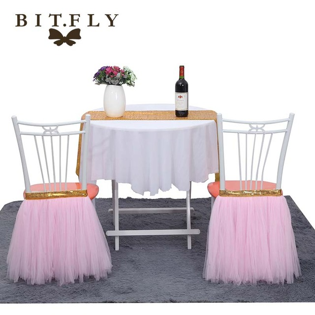 Tulle Tutu Chair Skirt Wedding Banquet Hotel Party Cover Festival Christmas Birthday Baby Shower Diy