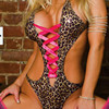 Sexy Jumpsuits Leopard Large Size Leather Women Pole Dancing Clothing Women Jumpsuits Underwear Sexy Jumpsuits Sex