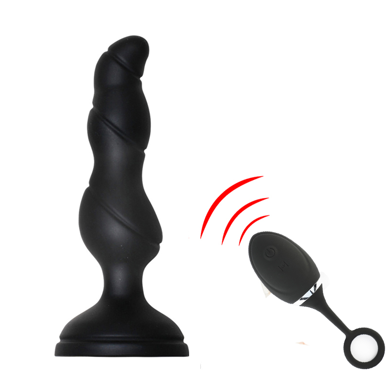 Rechargeable Wireless Anal Plug Vibrator Prostate Massager W Remote Control