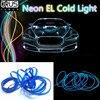 JURUS 3 metry elastyczne neonowy przewód świecący el wire lampa płaskie z falownika 12V Led wnętrza światła samochodowe rura linowa taśma Led samochodowe