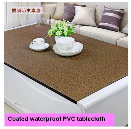 High Quality Contemporary And Contracted Coated Waterproof High Grade PVC Tablecloth  Waterproof Oilproof Table Mat