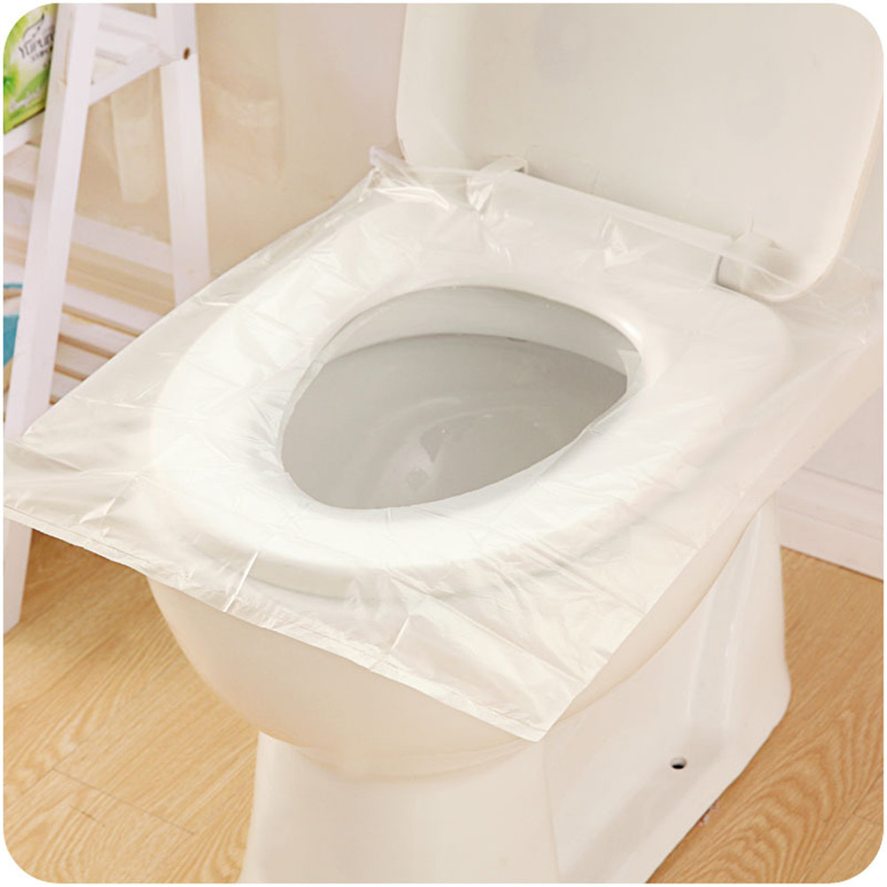 6Pcs/Pack Disposable Toilet Seat Cover Mat Waterproof Toilet Paper Pad For Travel/Camping Bathroom