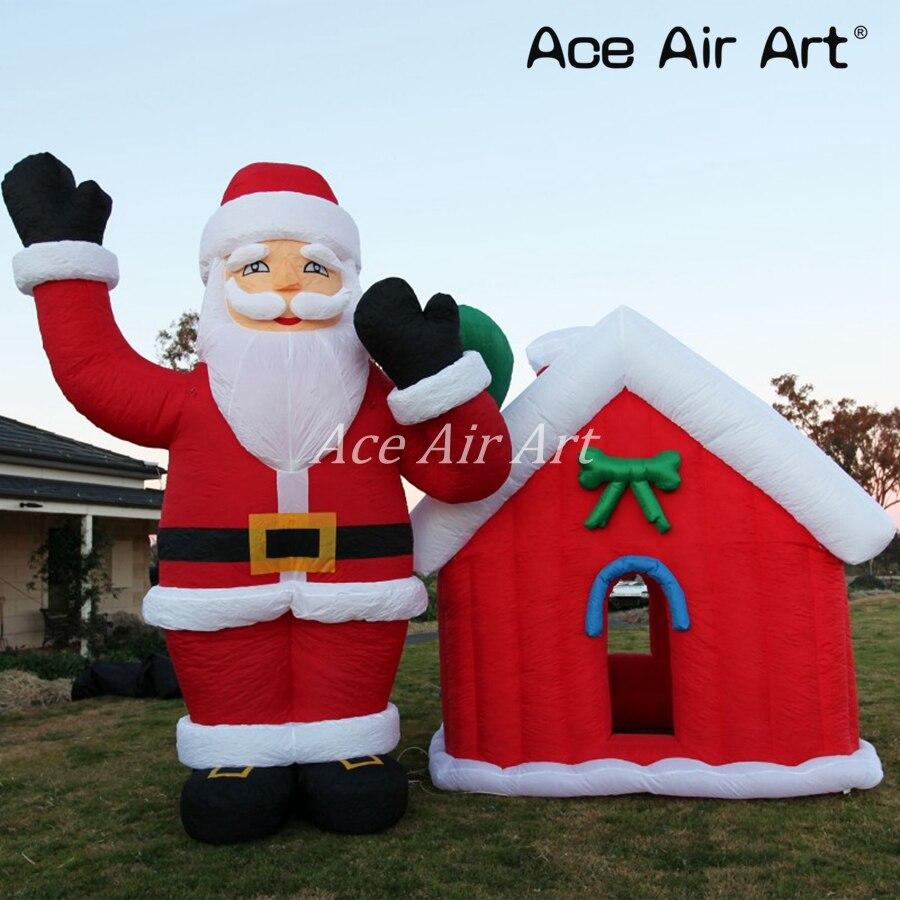 Ace Air Art offert en plein Air géant gonflable noël père noël cadeau de transport et Air soufflé grotte de noël pour la décoration