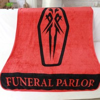 150x120cm Japan Anime Guilty Crown Funeral Parlor Icon Throw Blanket RED Soft Coral Fleece Bedroom Cospaly gift 1 Sofa Be