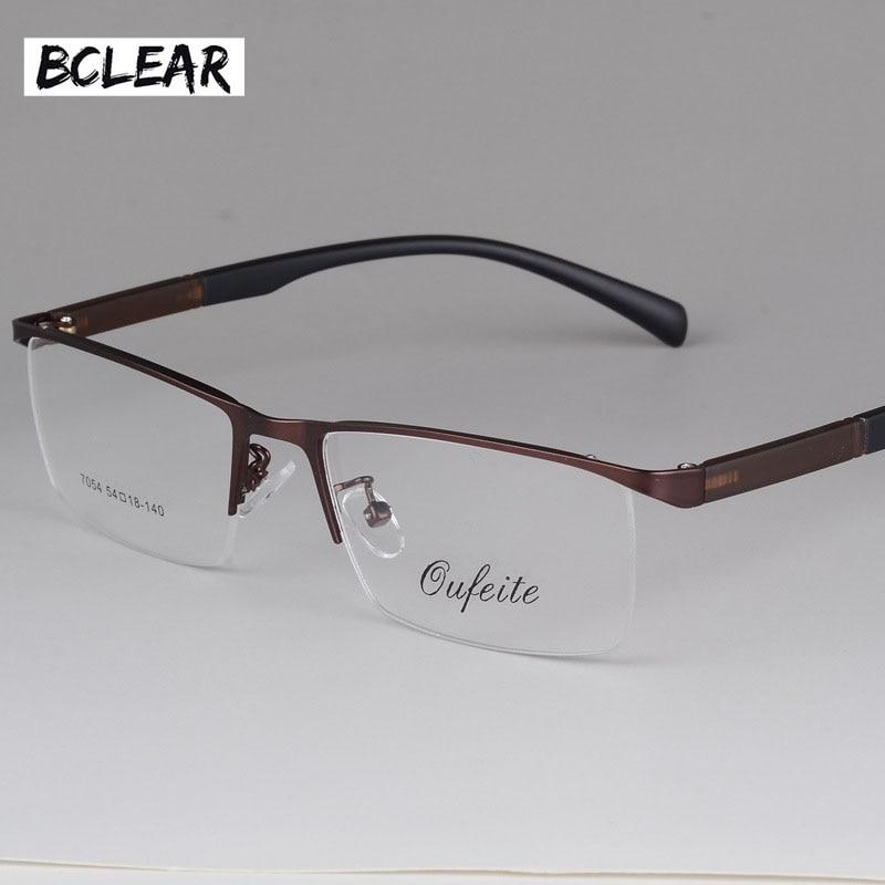 489f6b95bfd BCLEAR 2018 New Arrival Fashion Glasses Frame Men Eyeglasses Frame Vintage  Half Rim Clear Lens Glasses