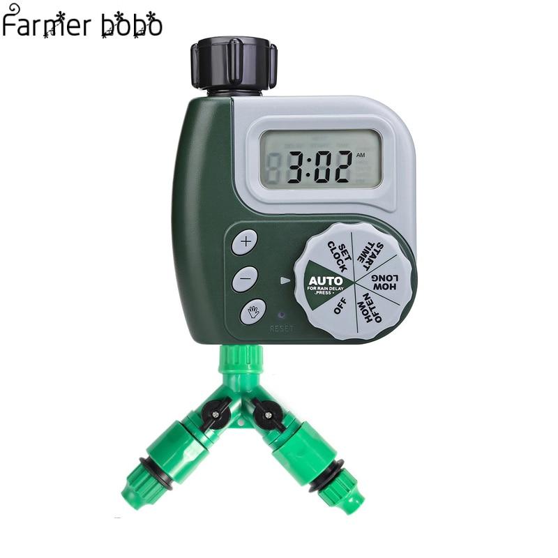4 шт. автоматического полива цифровой таймер Y разъем 3/4 внешний threadquick разъем для 4/7 или 8/11 мм шланг