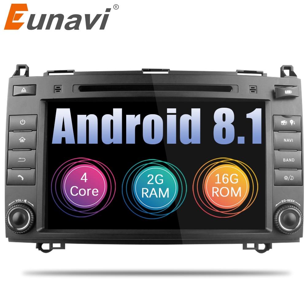 Eunavi 2 Din 8'' Android 8.1 Car DVD Player radio stereo gps navi for Mercedes Benz Sprinter W209 W169Viano Vito B200 A160 Wifi eunavi 2 din android 8 0 octa 8 core car dvd player for benz sprinter vito w169 w245 w469 w639 b200 radio stereo gps wifi 4g ram
