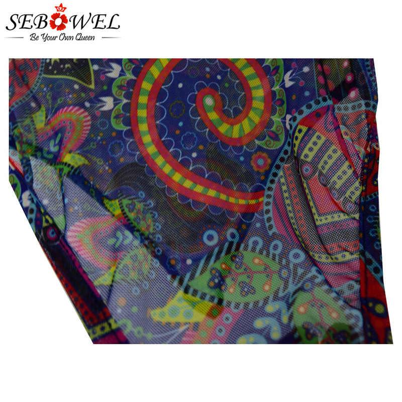 SEBOWEL, 2019 цветов, масляная живопись, слитный купальник размера плюс, женский купальник, пляжные стринги, купальник, Женский Монокини