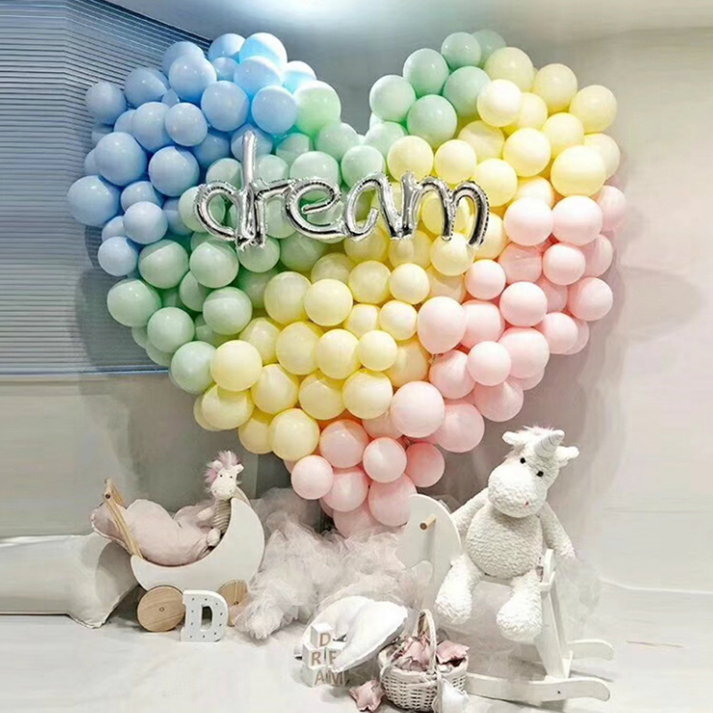 Image 2 - Macaron Color Latex Balloons 30pcs 5 inch Festival Birthday Party Decorative Balloons Sweet Colorful Party Hanging Decoration-in Ballons & Accessories from Home & Garden