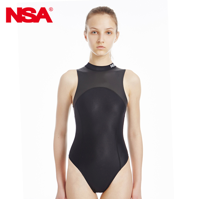 d559713155b25 NSA blackTriangle conjoined Water polo women s bathing suit Cultivate one  piece show thin waterproof professional swimwear-in Body Suits from Sports  ...
