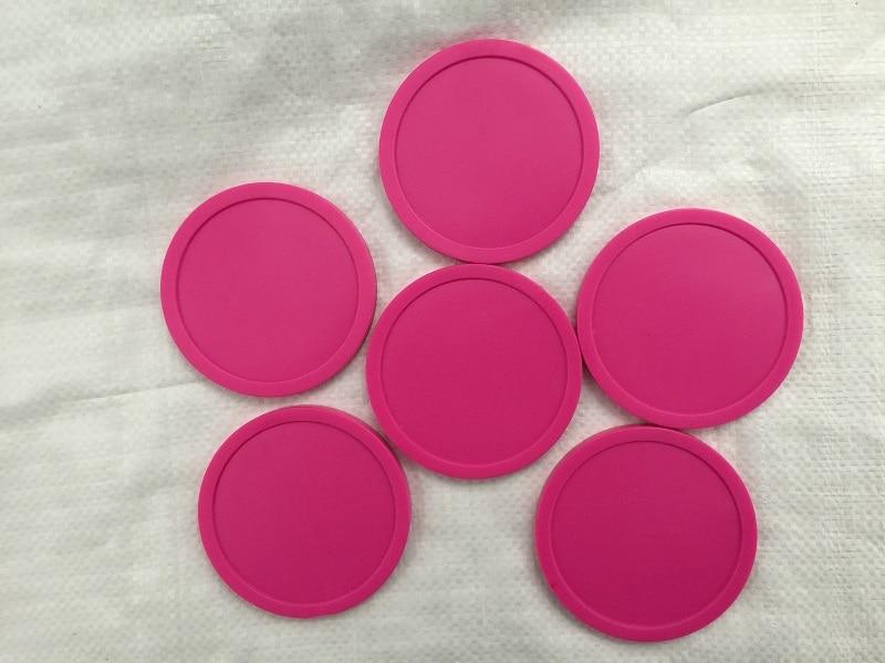 Il trasporto libero 6 pz/lotto rosa Air hockey da tavolo pusher puck 82mm 3.25 mallet PortieriIl trasporto libero 6 pz/lotto rosa Air hockey da tavolo pusher puck 82mm 3.25 mallet Portieri