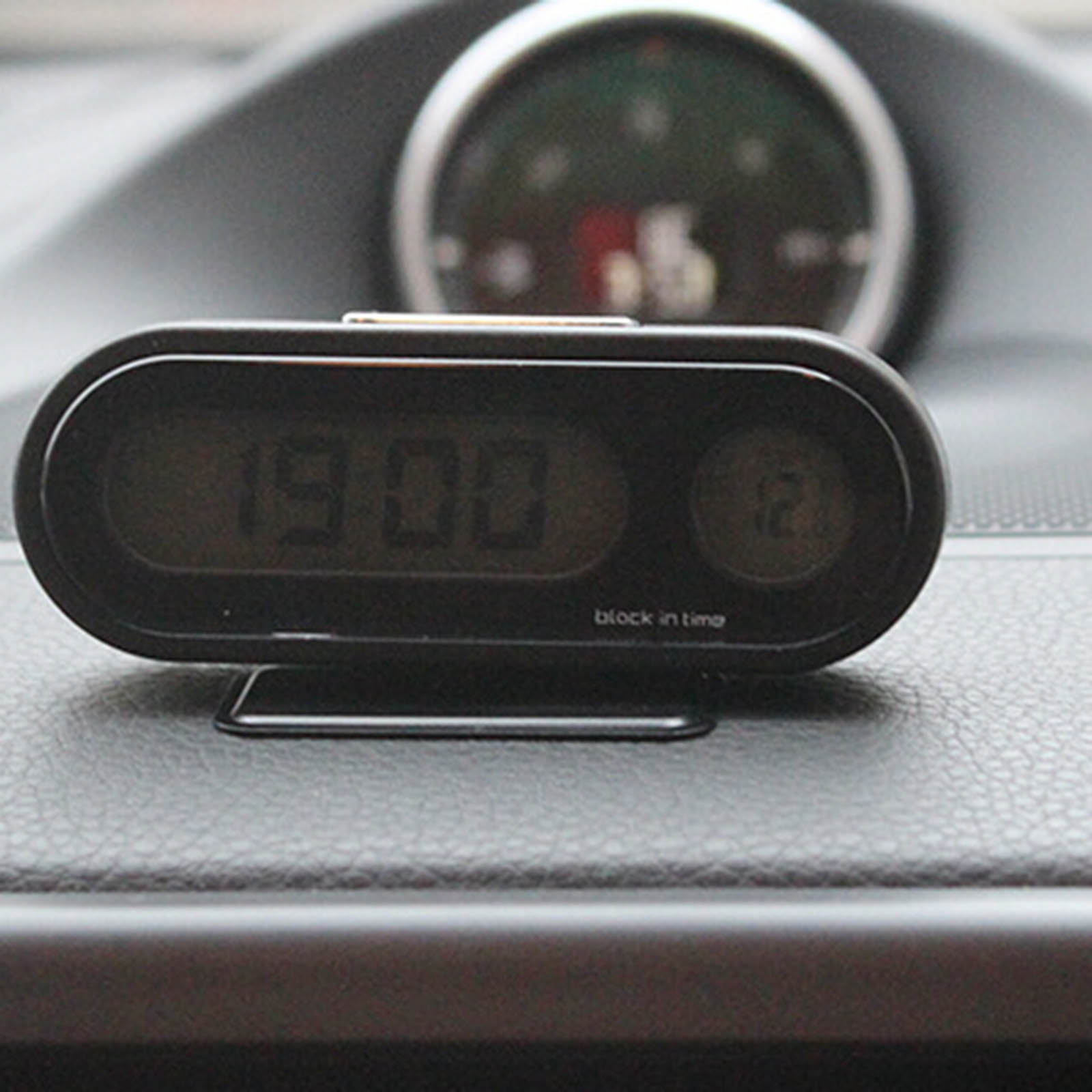New Hot Universal Car Clock Thermometer Auto LED Light Digital Display Clock Thermometer Dashboard Interior Ornament