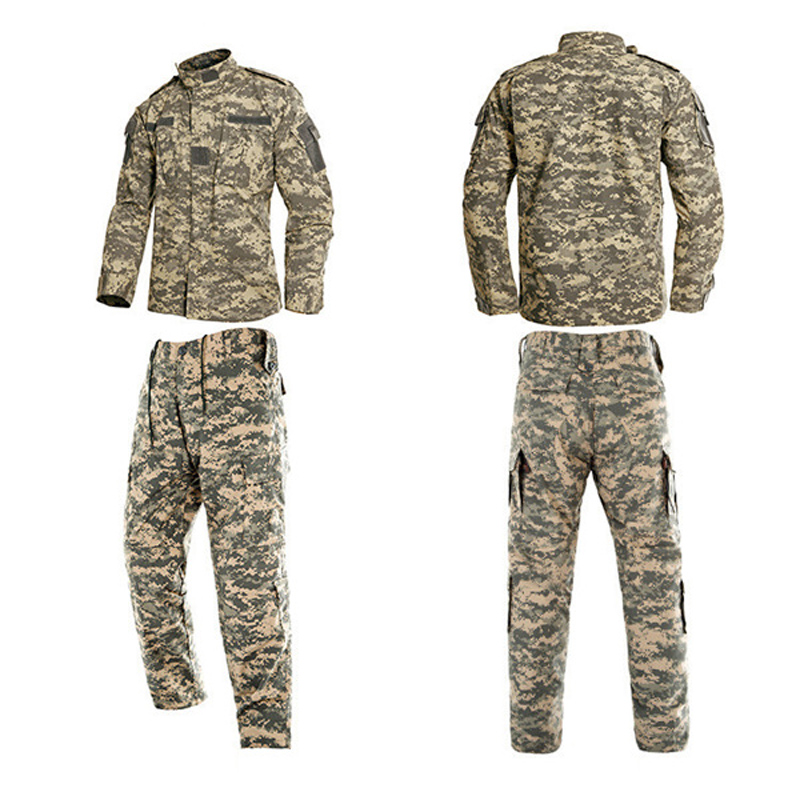 US Army Suit African Military Uniform For Male Cambay Jacket+pants 2PCs Camouflage ACU CP Man Special Force Tactical Clothing