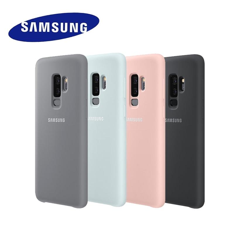 100% Оригинальный samsung силиконовый чехол для samsung Galaxy S9 S9 + S9 плюс G960 G965-подходит для различных видов дорожного покрытия защиты EF-PG965 EF-PG960