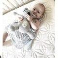 Handmade Bonito Sleepping Urso Bonecas de Brinquedo de Pelúcia Brinquedos Para O Bebê de Tricô Cinza Cama do Quarto Criativo Dolls Crianças Presentes de Natal Aniversário