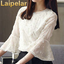 Fashion Women Blouse 2018 Chiffon Female Shirt Summer Flare Sleeve Ladies Top  Clothing Blusa