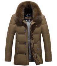 Тонкий Дизайн Человек Толстые Теплые Пальто Плюс Размер M-4xl Хорошее Качество Мужчины Зима Вниз Куртки Куртка Съемная Шляпа Верхняя Одежда