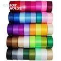 (25 yards/roll) 40mm Single Face Satin Ribbon Fabric Webbing Decoration Gift Christmas Ribbons