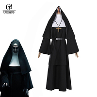 ROLECOS Women Halloween Costume The Nun Cosplay Costume 2018 Horror Films Cosplay Cross Ghost Halloween Costume The Conjuring