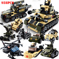 8 in 1 Military Tank Vehicle Specia Force Building Blocks Compatible Legoings Weapons Soldiers Technic Bricks Toys For Children