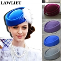 Wool Felt Fascinator Wedding Hat Pillbox Hat for Women Cocktail Party Vintage Ladies winter Dress Hat Pretty Hostesses Cap A139