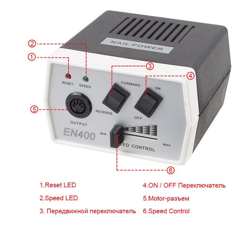 35 W negro Pro eléctrica Manicura máquina del taladro del clavo ...