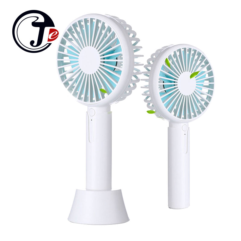 Mini Portable Cooling Fan Handheld Fan Mini Portable Fan Small Desktop USB Charging Fan 3 Gear Wind Speed Color : Black