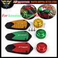 1 Set 2016 New Motorcycle CNC Front&Rear brake Fluid Reservoir Cap Cover For Kawasaki Z1000 2010 2011 2012 2013 2014 2015 2016
