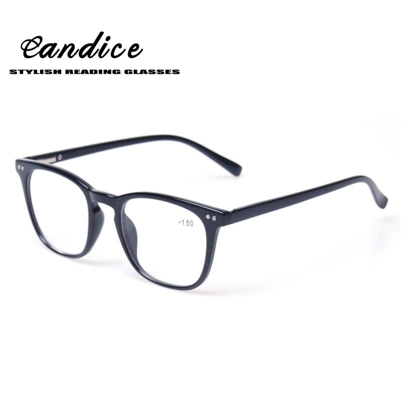 Clásico Retro marco gafas de lectura calidad bisagra del resorte con estilo diseñado hombres y mujeres gafas para leer