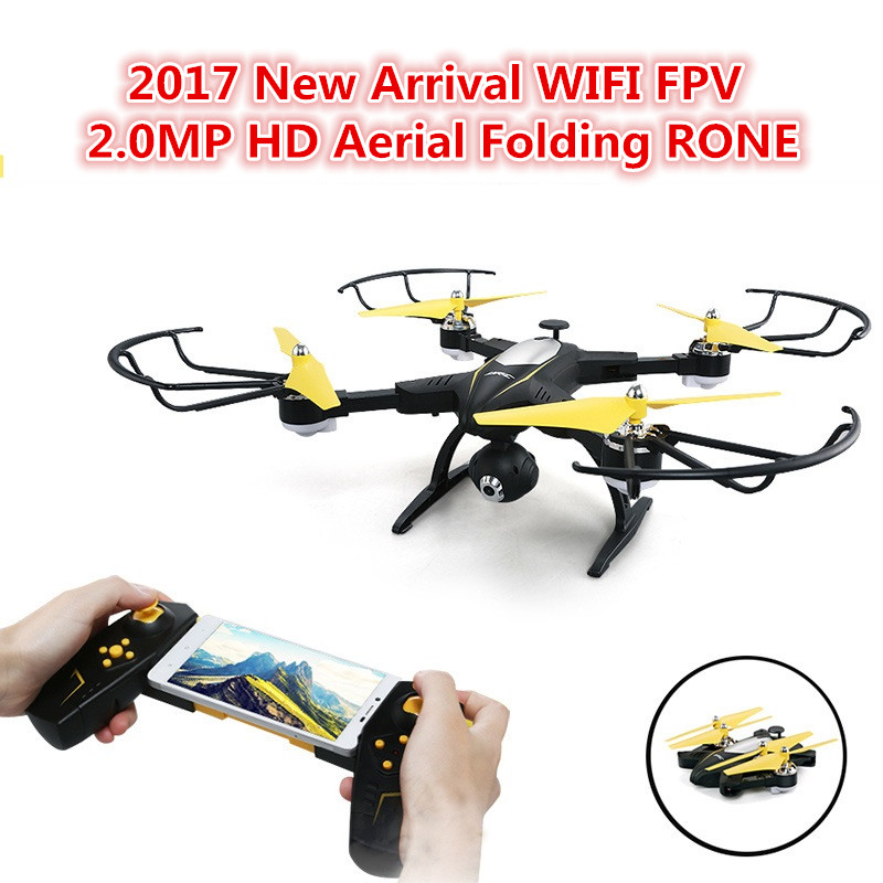 2017 Christmas gift JJRC WIFI FPV RC drone 2.4G 4CH 6Axis Headless Mode Altitude Hold RC quadcopter with 2.0MP Camera vs X5UW x8 jjrc h39wh h39 foldable rc quadcopter with 720p wifi hd camera altitude hold headless mode 3d flip app control rc drone