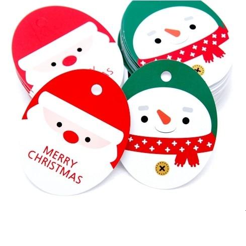 set of 100pcs kraft christmas tags cute xmas gift labels santa
