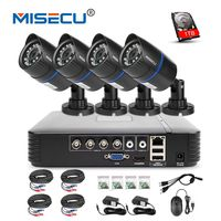 MISECU 4CH 720P AHD DVR CCTV System 1.0MP 1200TVL IR Night Vision Indoor Outdoor Camera Home Security Video Surveillance Kit