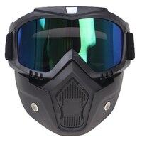 6 kolorów dostępny hełm z maską 3/4 otwarty kask wyposażony gogle maska multi fucntion kask szkło w Kaski od Samochody i motocykle na