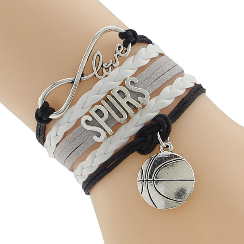 Infinity Love San Antonio Basketball Team Bracelet Black