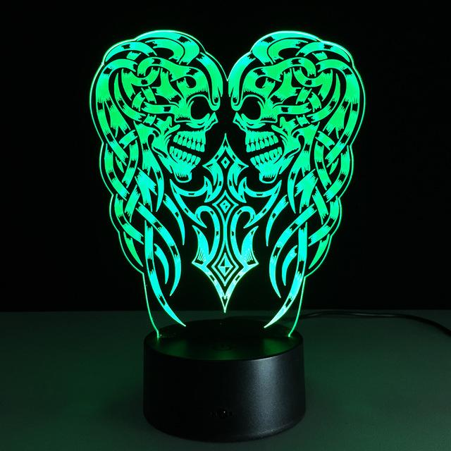 3D USB Calabaza LLEVÓ Mesa de Luz de la Noche de la Ilusión Óptica Lámpara de Escritorio Iluminación Control Remoto y Táctil Para Halloween
