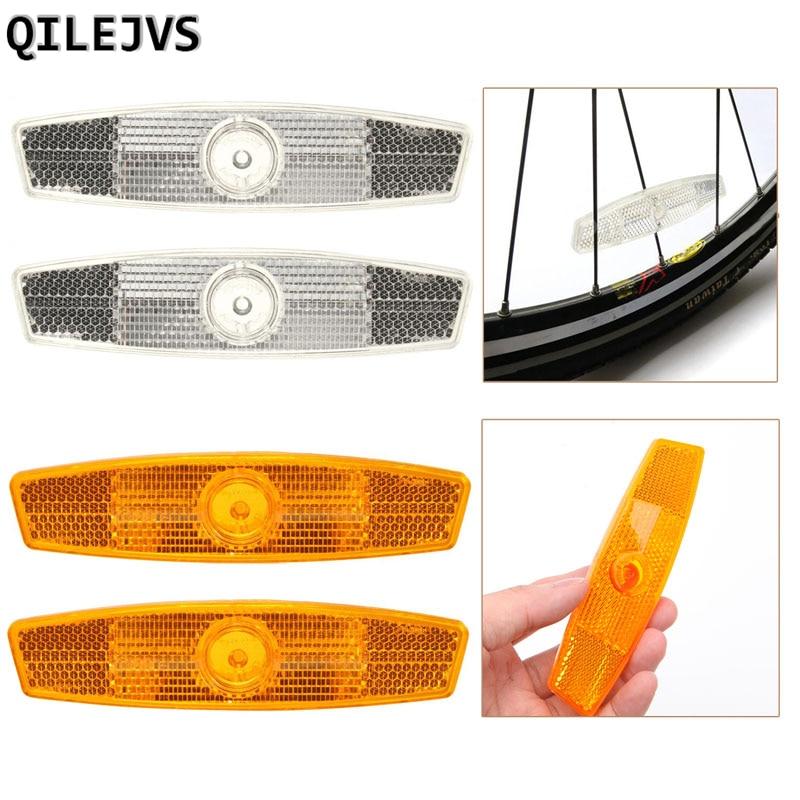 QILEJVS 2PCS Spokes bicycle Bike Bicycle Wheel Reflector Safety Spoke Reflective Mount Vintage Clip Warning