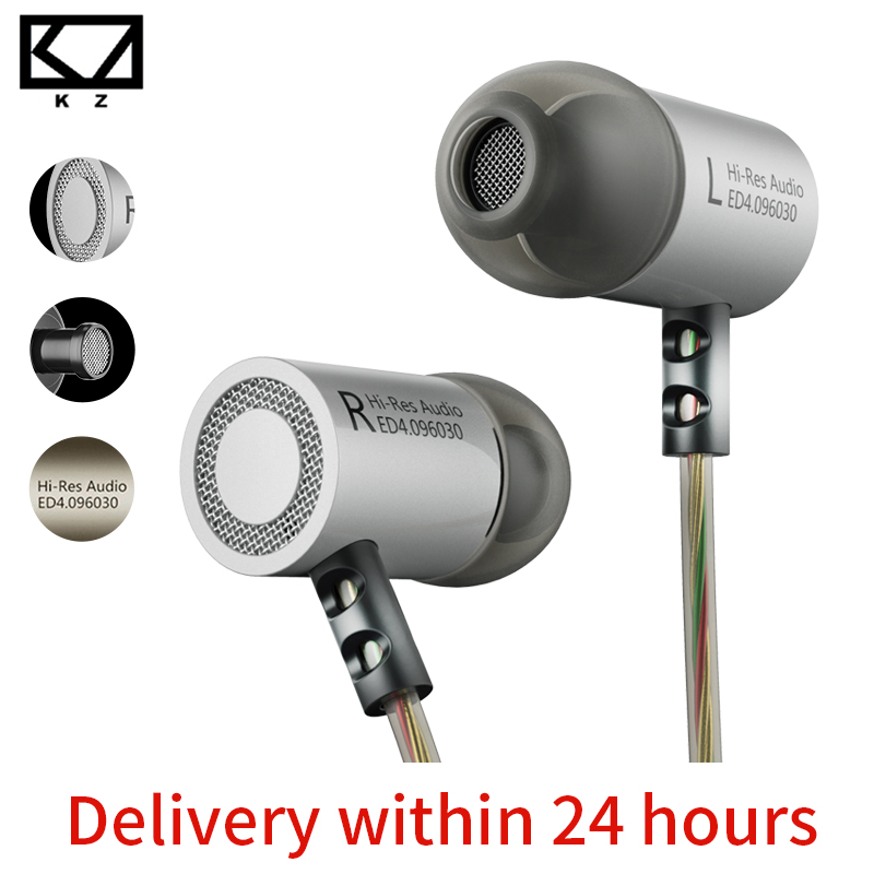 KZ ED4 Stereo In Metallo Auricolare isolamento del Rumore In-Ear Musica Auricolari con Microfono per il Telefono Mobile MP3 MP4