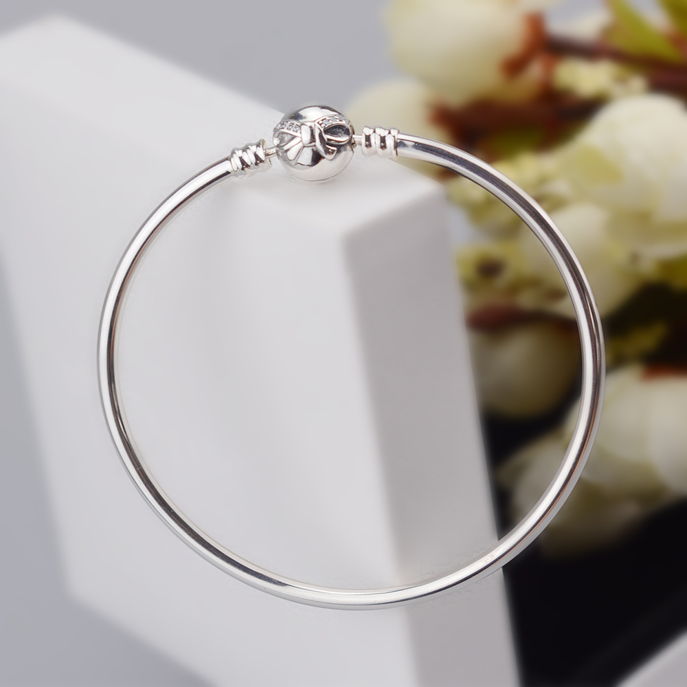 EDELL Fashion Love Snake Chain Silver Color Fit Original Charm Bracelet Bangle Charm Bead For Women Gift Free Package Mail