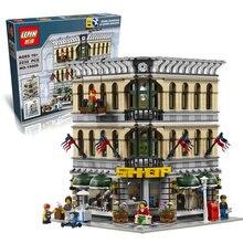 W magazynie lepin 15005 2182 sztuk miasta grand emporium modelu budynku zestawy cegły bloki zabawki kompatybilny zabawki edukacyjne 10211
