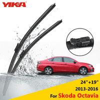 YIAK Front Rubber Wipers Windscreen Wiper Blades For Skoda Octavia 24 19 Fit Push Button Arms