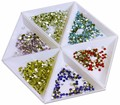 10Pcs professional nail art decorations Crystal Rhinestones Gems Plastic Sorting tray Manicure Tools