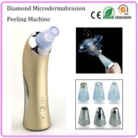 Portable Vaccum Suction EMS Stimulation Diamond Microdermabrasion Blackhead Removal Skin Pores Cleaning Lifting Beauty Machine