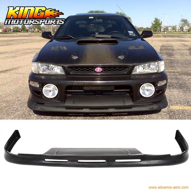 Fit For 97 98 99 00 01 Subaru Impreza WRX 2Dr 4Dr Front Bumper Lip Spoiler BLK PU