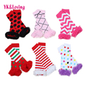 Newest Baby Leg Warmers Boy's Girls' Legging Tights 100%Cotton Cute Rainbow Socks Infant Toddler Ruffle Warmers Kids Leg warmers